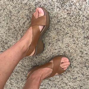 Dansko brown leather sandals, size 7